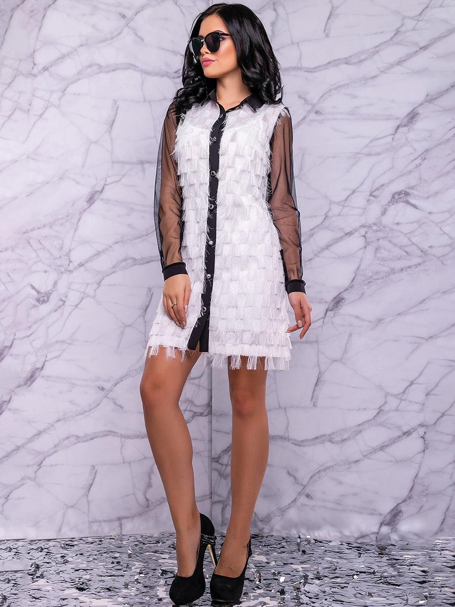 Сукня біло-чорна | 4822884 | фото 6