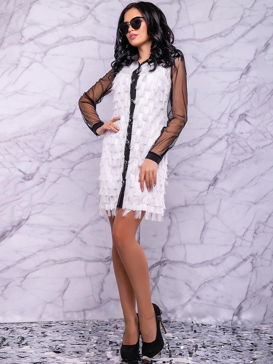 Сукня біло-чорна | 4822884 | фото 7