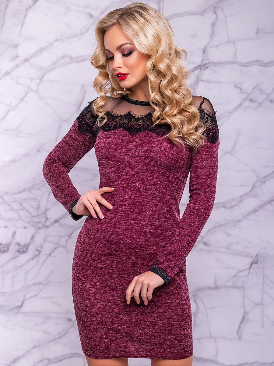 Сукня кольору марсала | 4822905