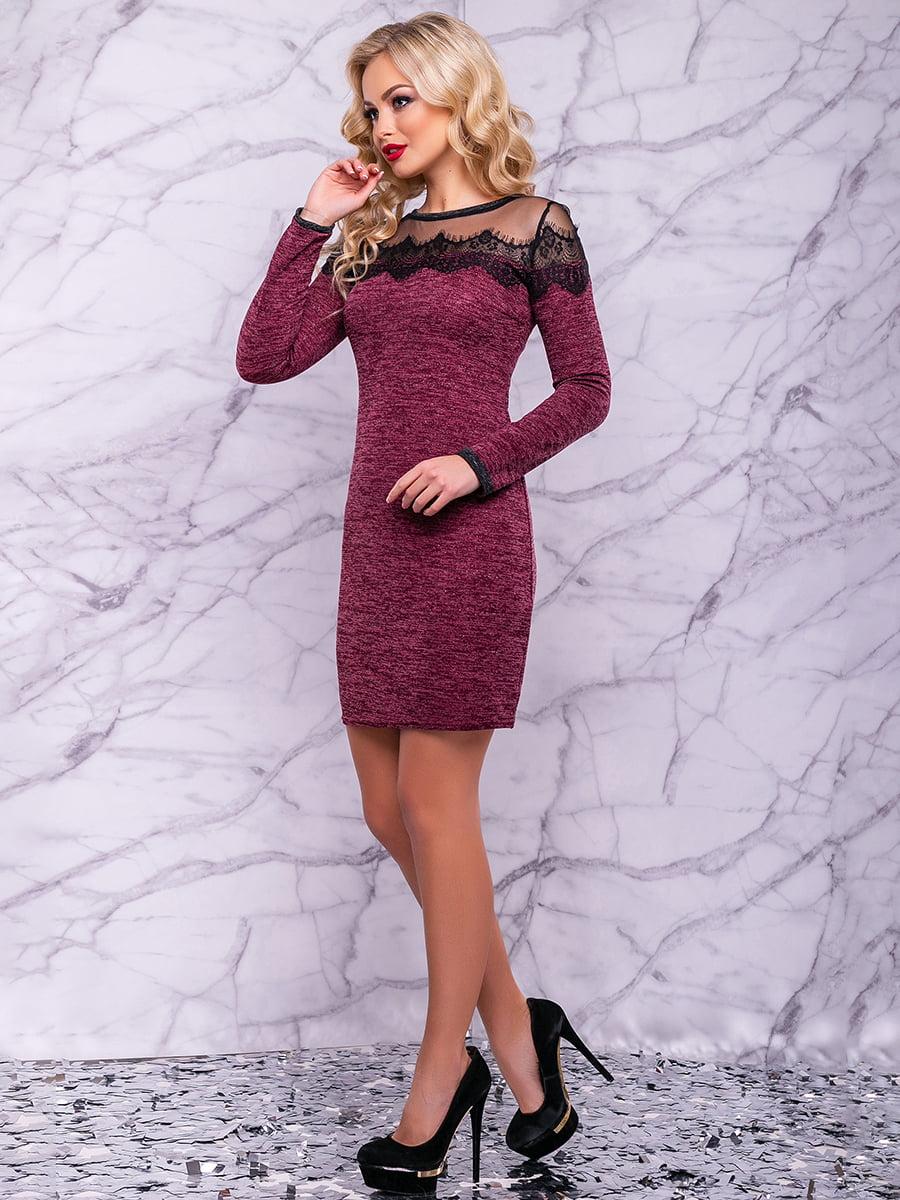 Сукня кольору марсала | 4822905 | фото 4