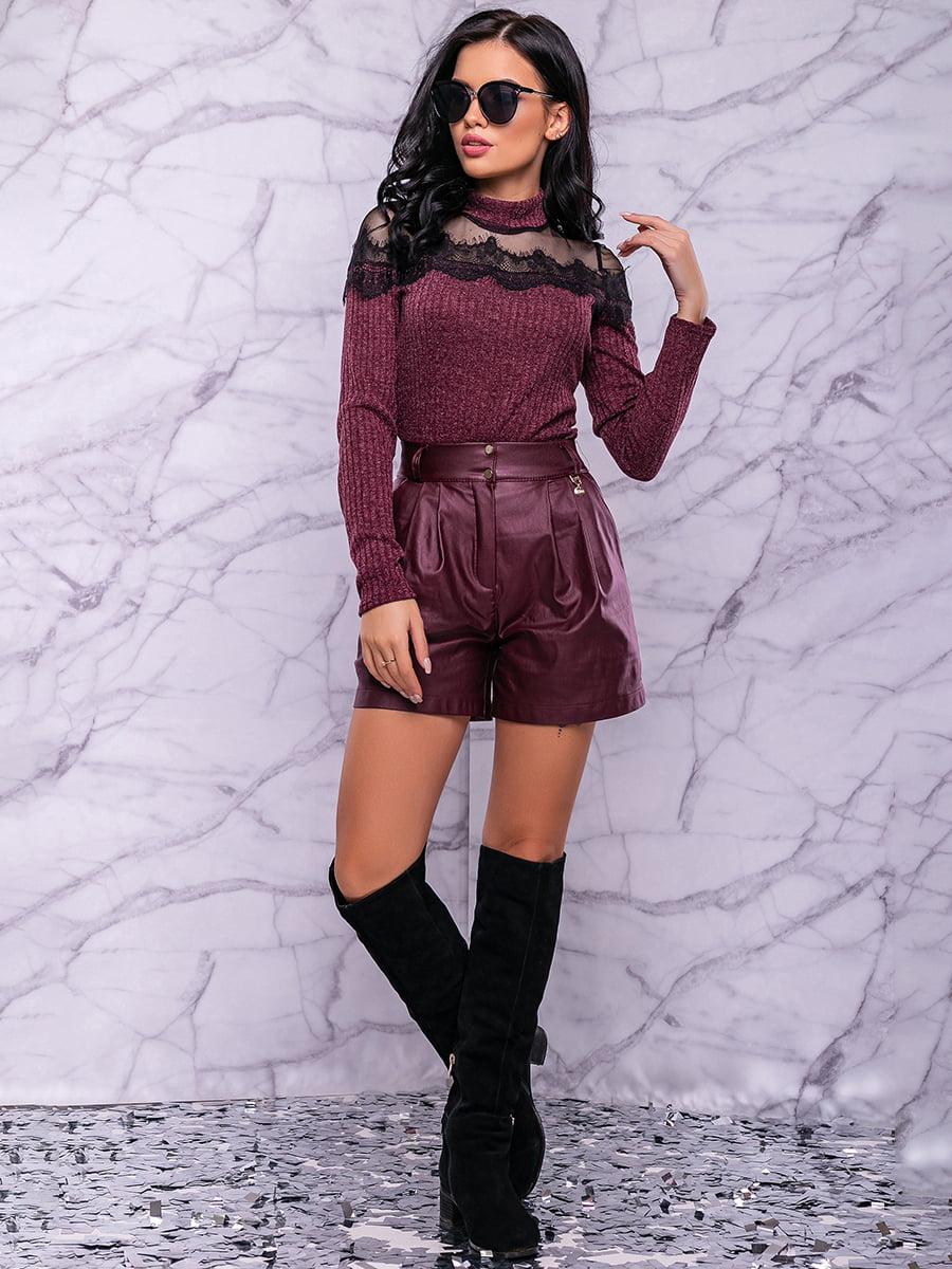 Спідниця-шорти кольору марсала | 4822906 | фото 2