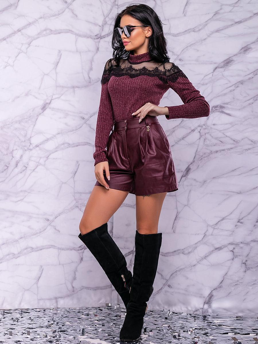 Спідниця-шорти кольору марсала | 4822906 | фото 4