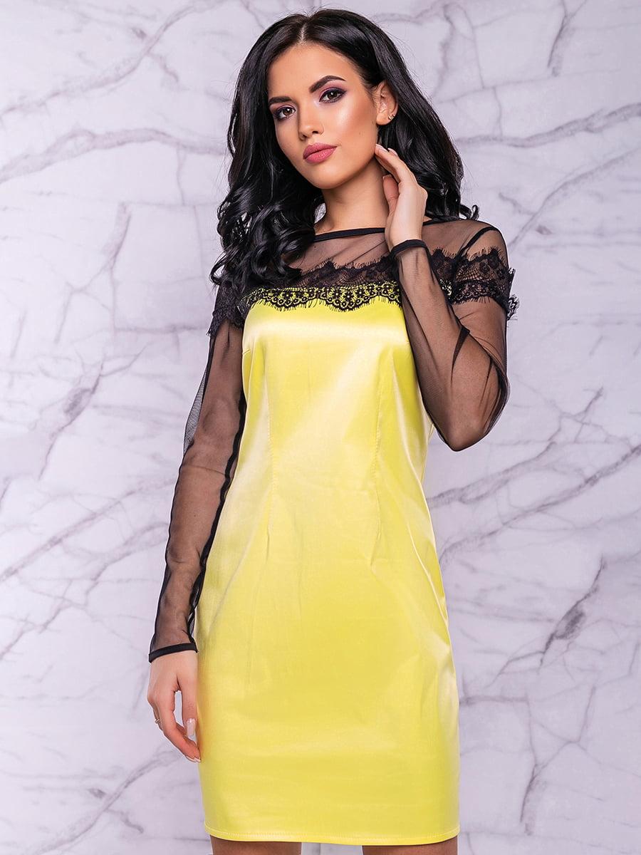 Платье желтое | 4822910