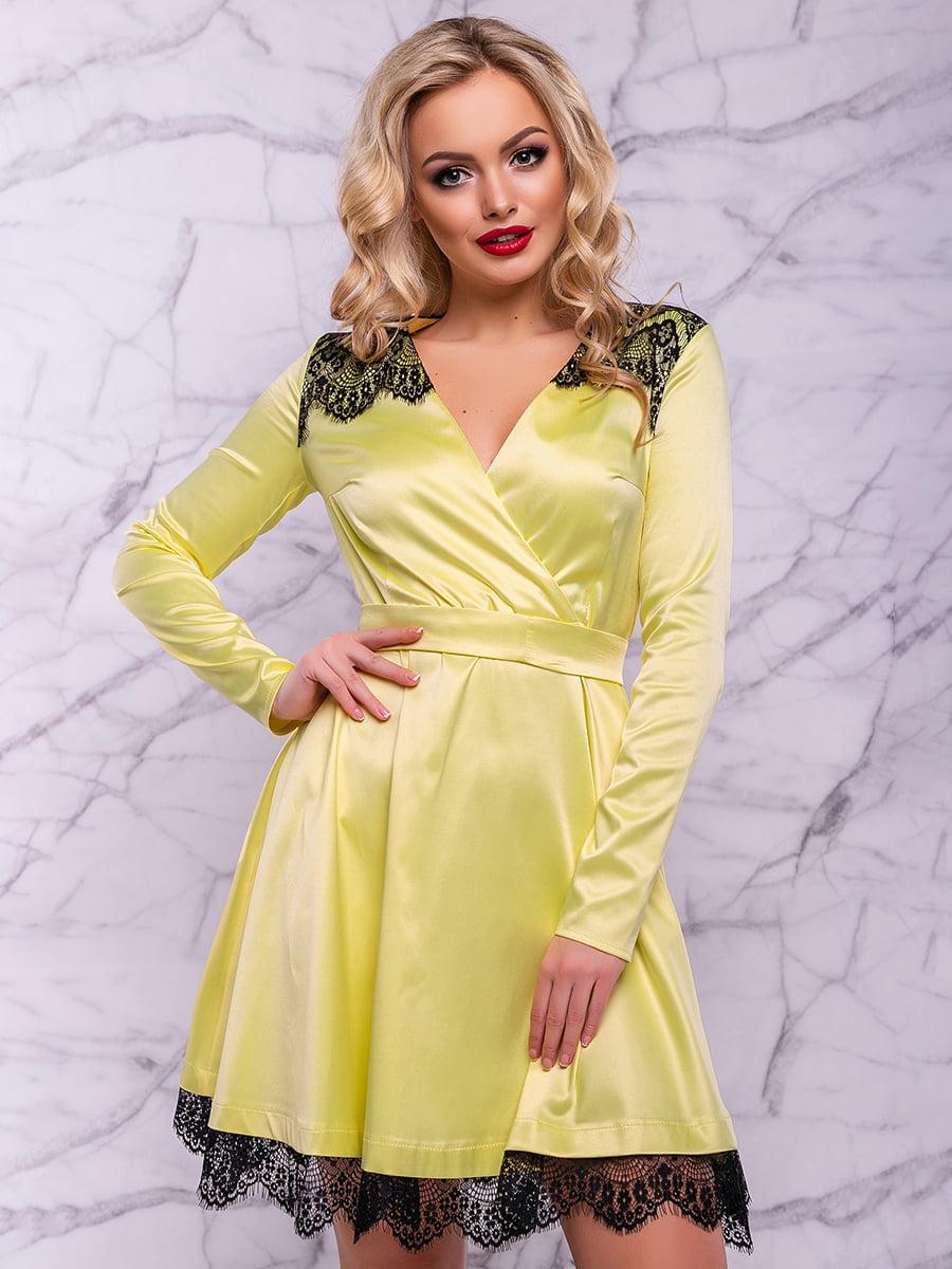 Платье желтое | 4822914