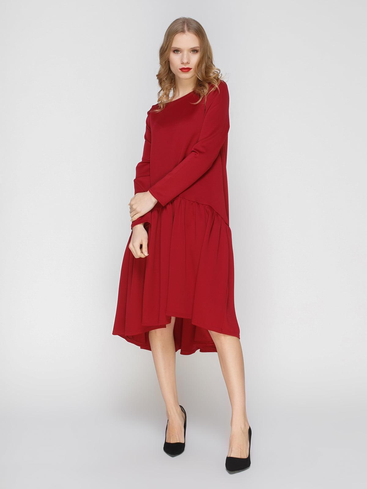 Сукня кольору марсала | 3045916