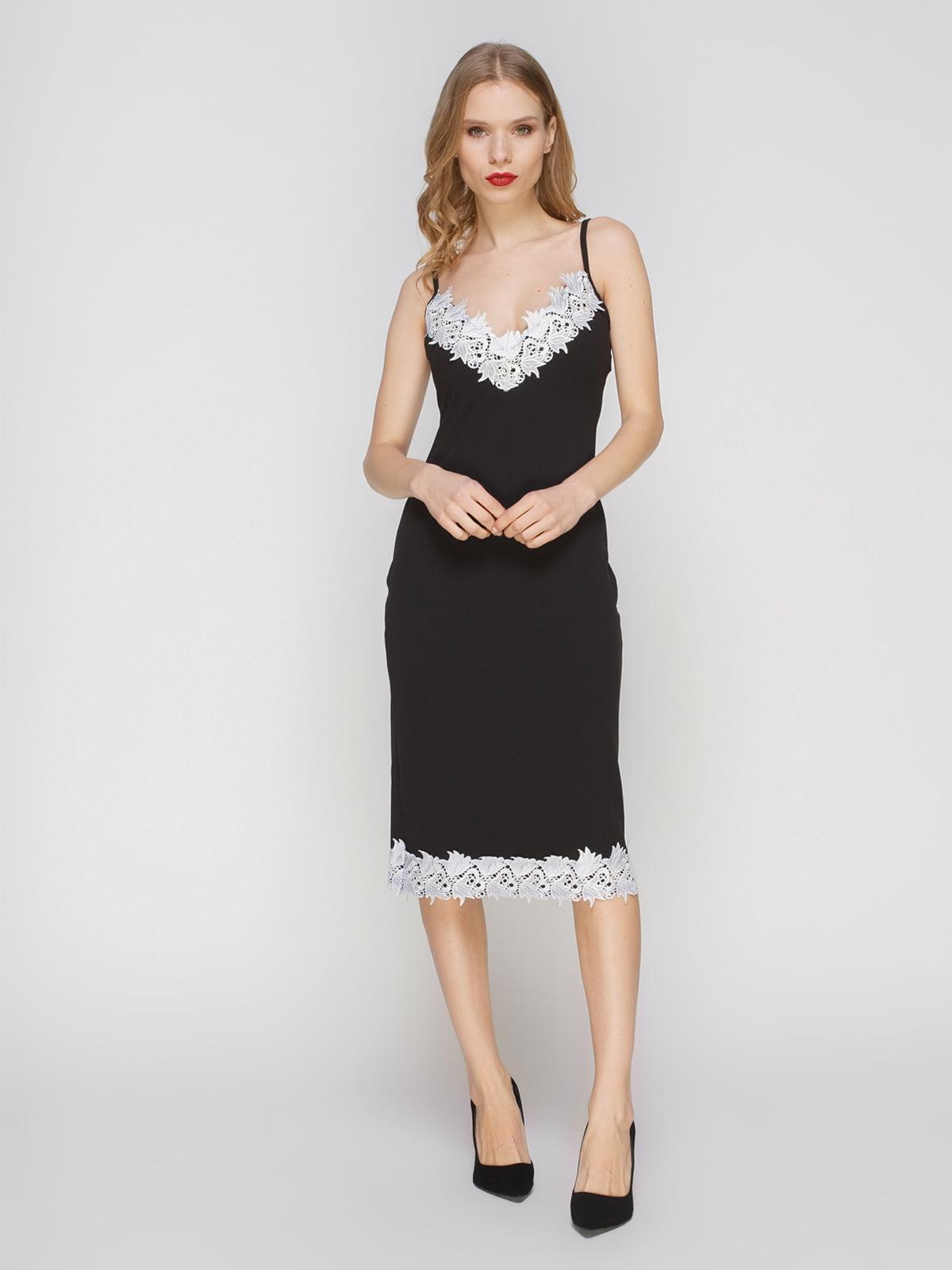 Сукня чорна з мереживом | 3182311