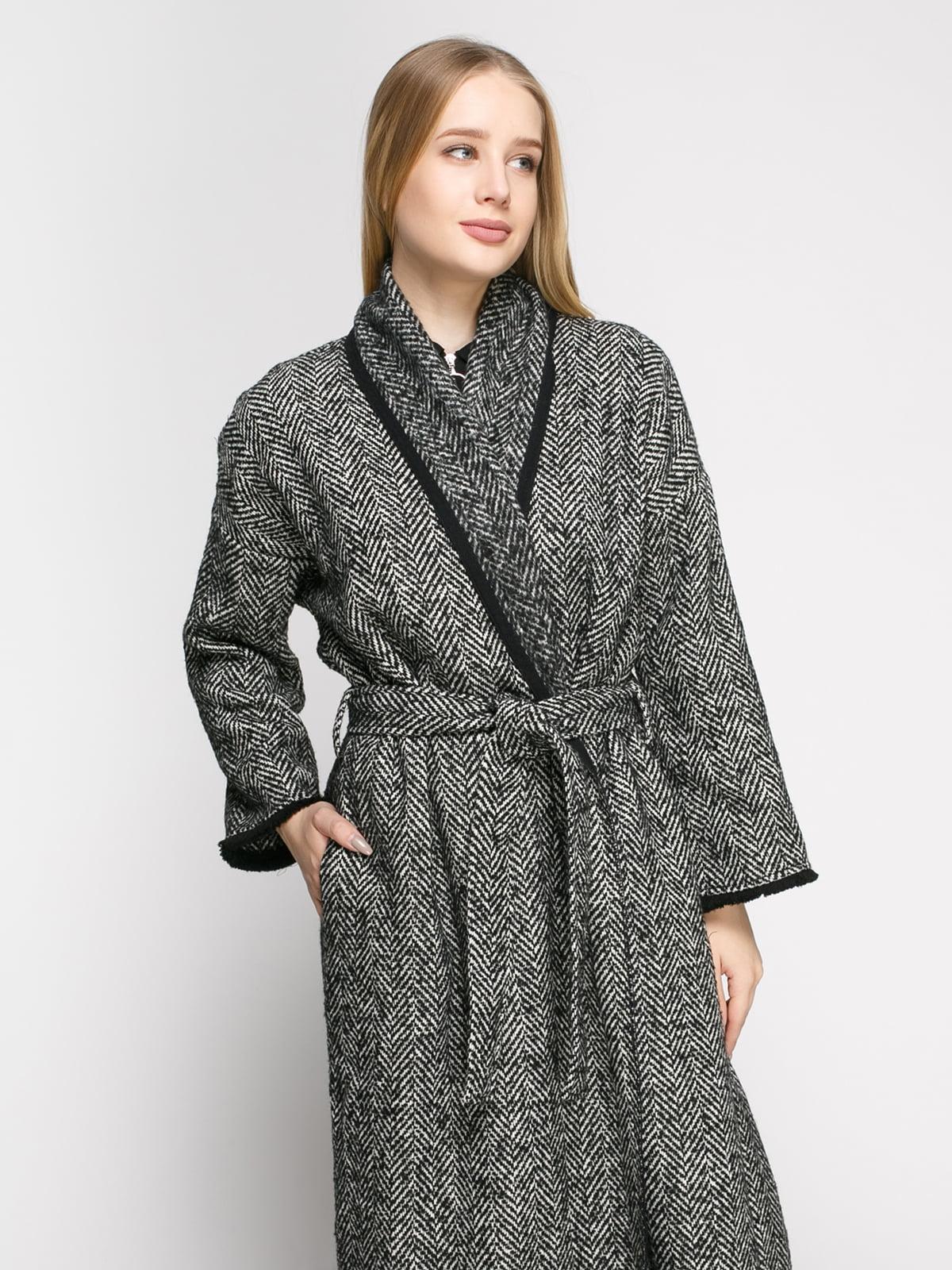 Пальто в рисунок-елочку | 4791382