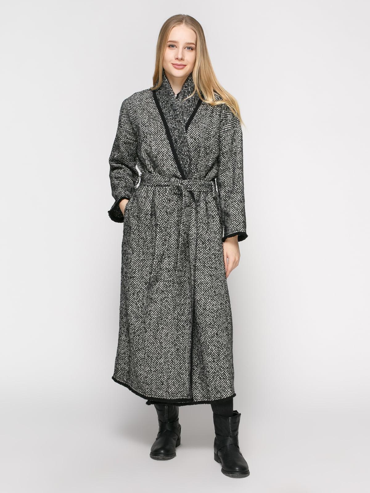 Пальто в рисунок-елочку | 4791382 | фото 2