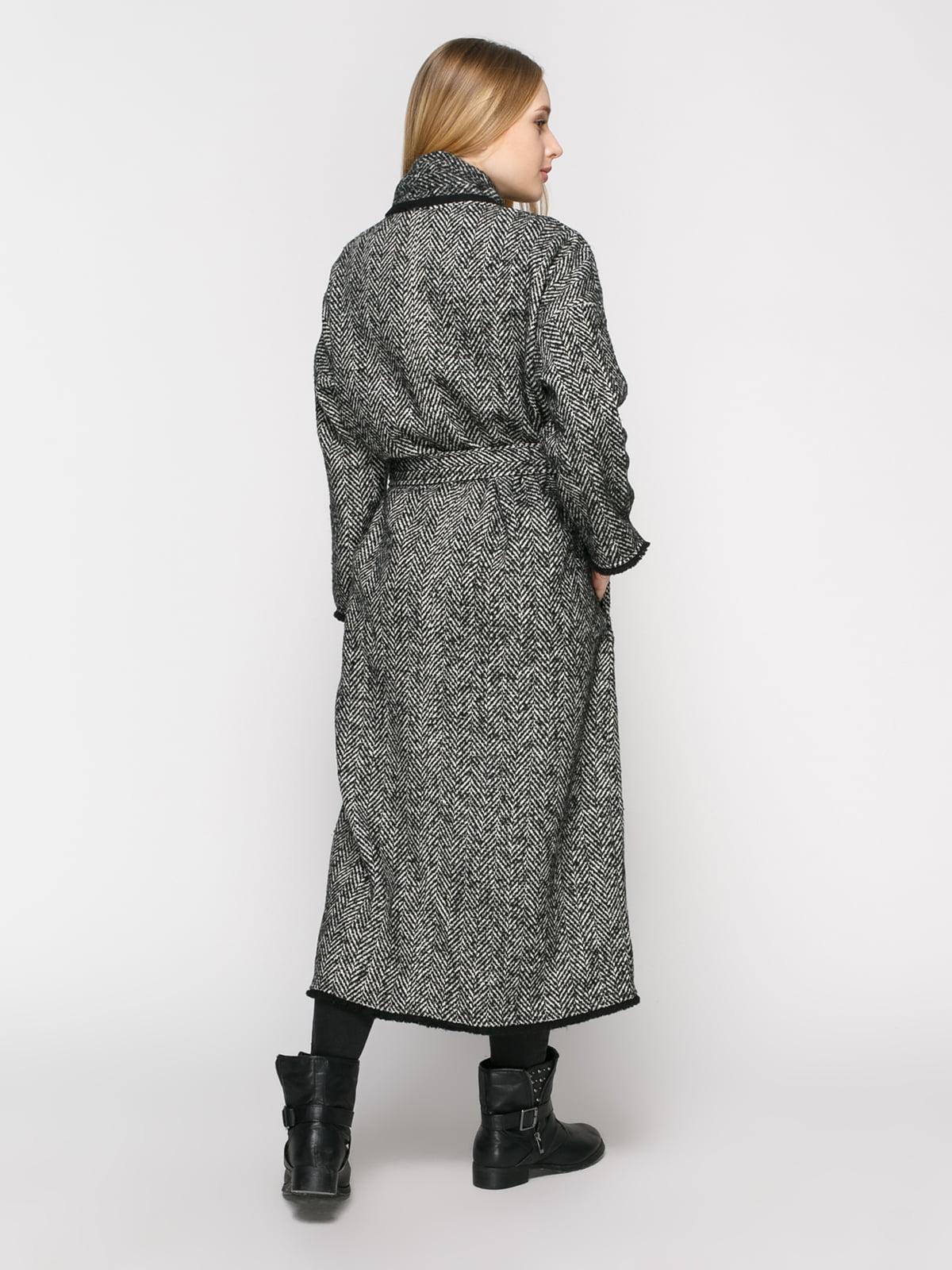 Пальто в рисунок-елочку | 4791382 | фото 3