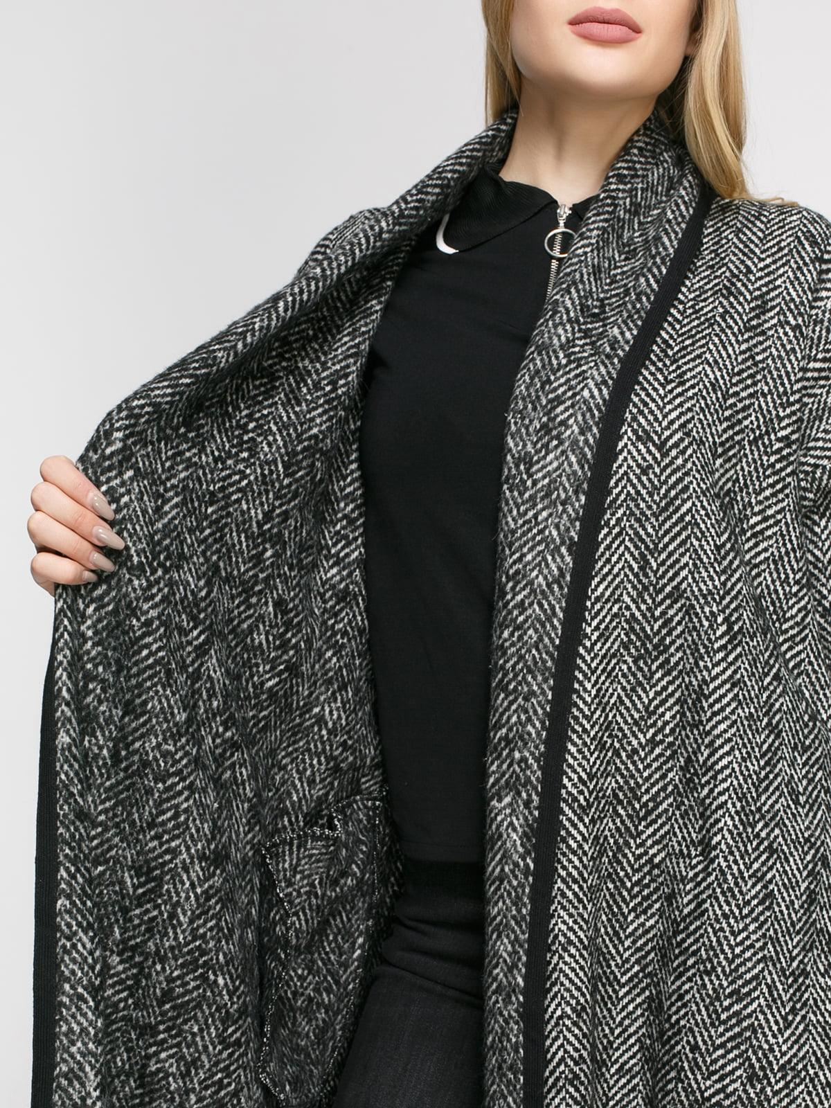 Пальто в рисунок-елочку | 4791382 | фото 4