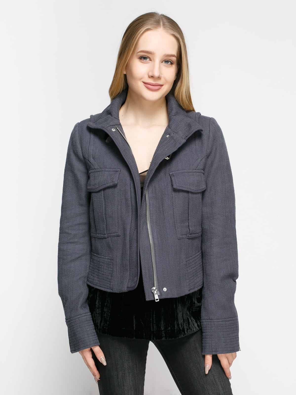 Куртка сіра | 4807818