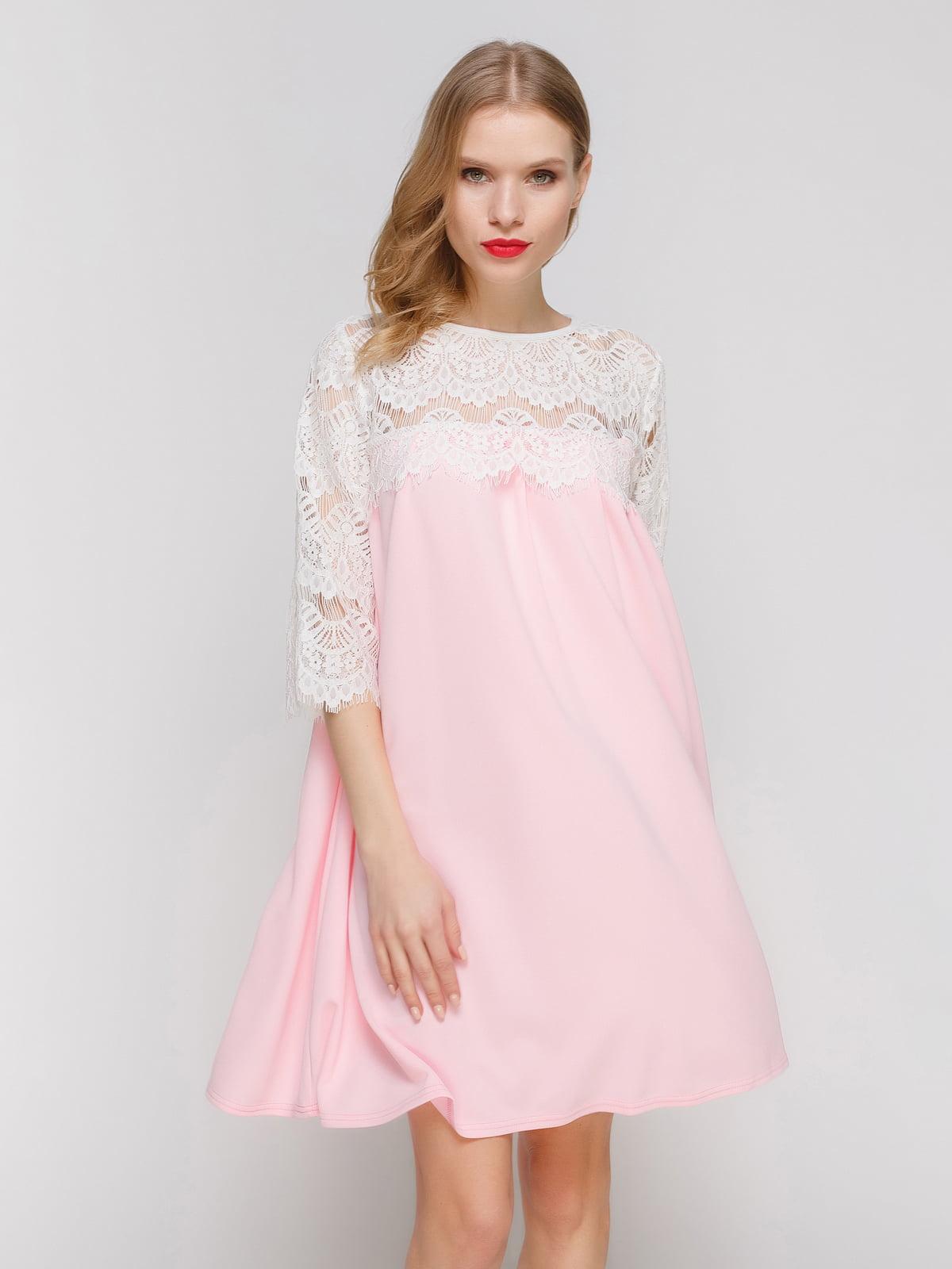 Платье розово-белое   3182318