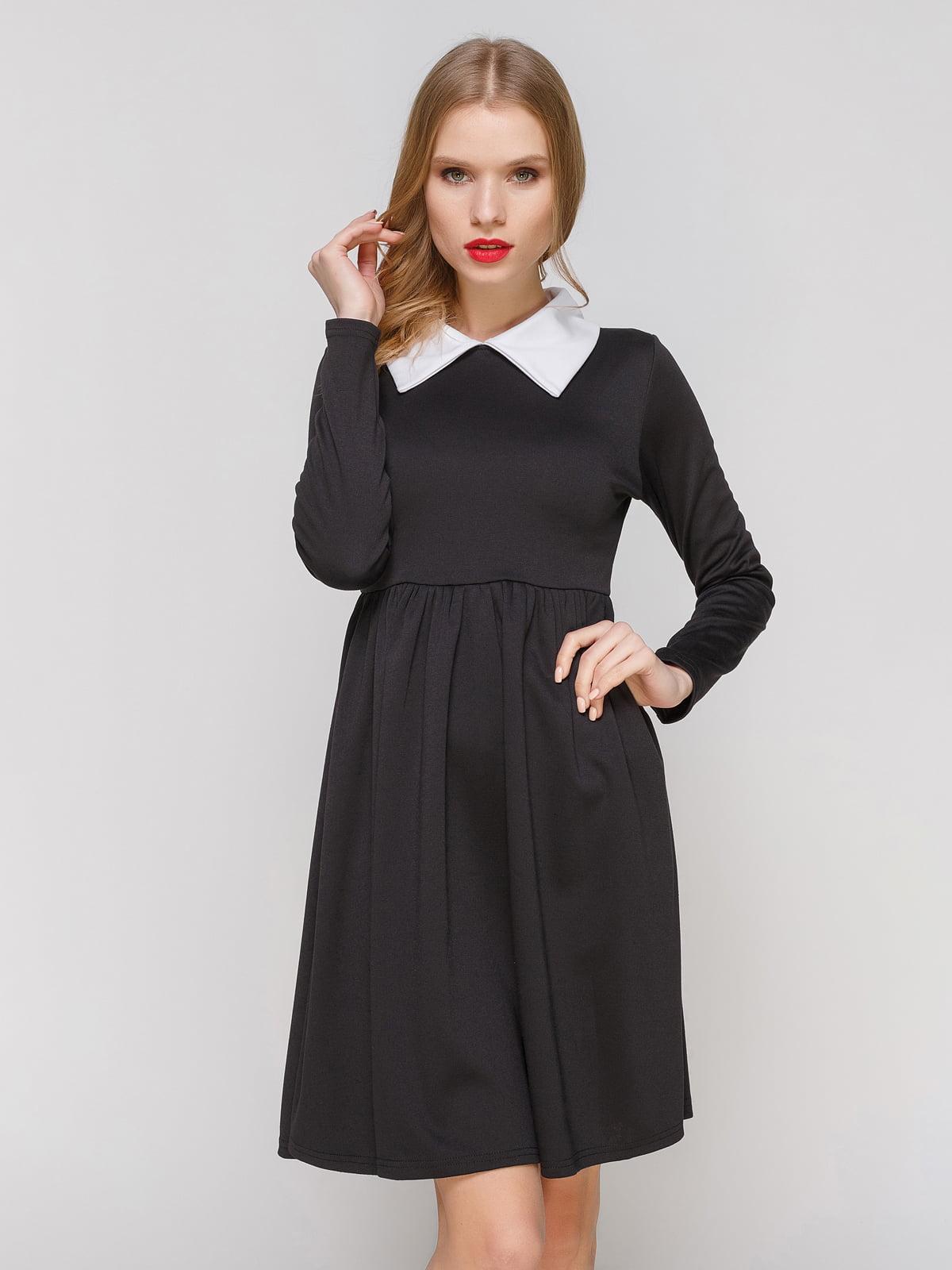 Сукня чорна з білим коміром | 2003599