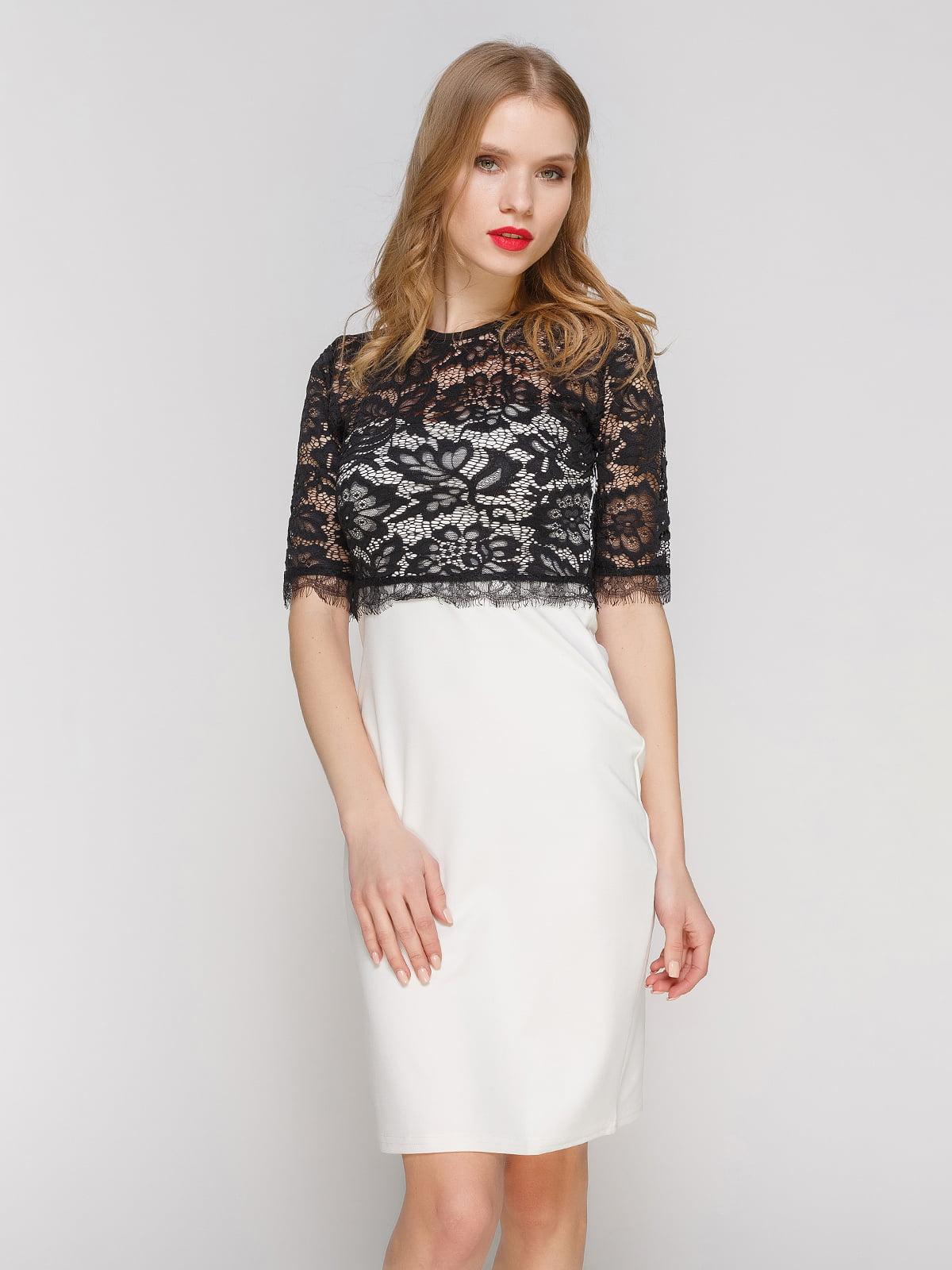 Сукня молочно-чорного кольору   2127472