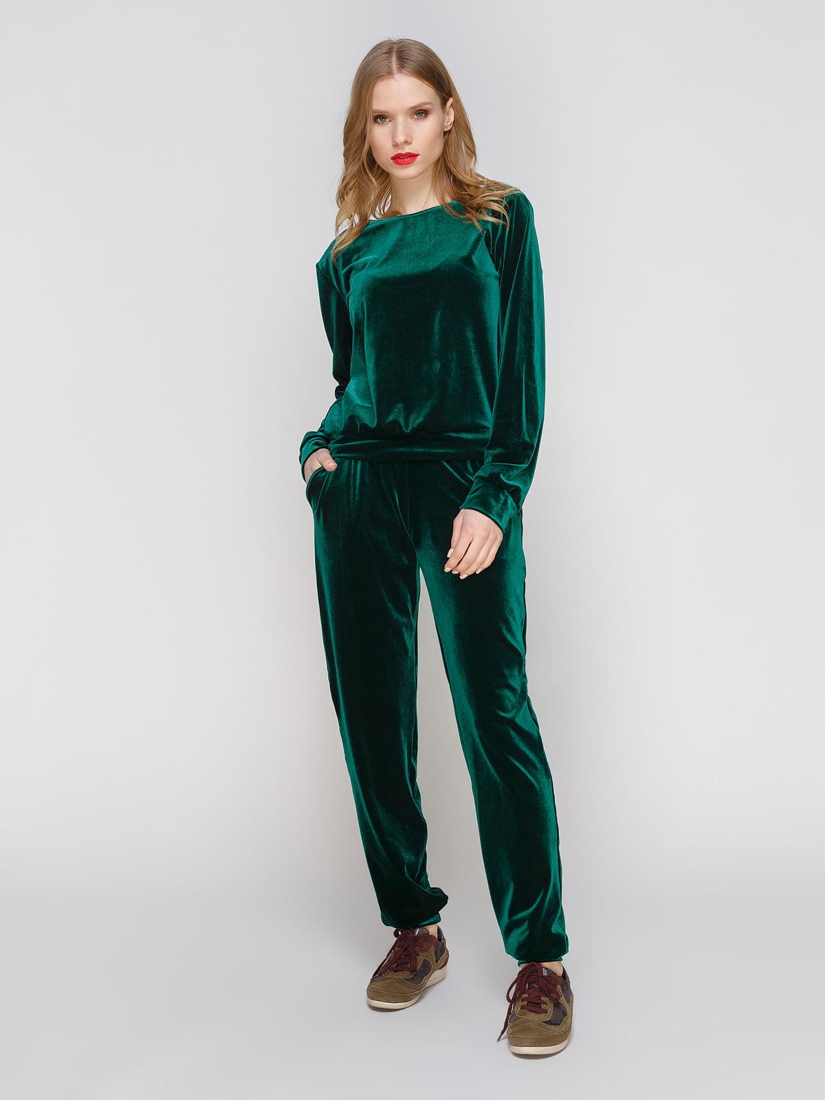 Костюм з оксамиту: джемпер і штани | 3182339