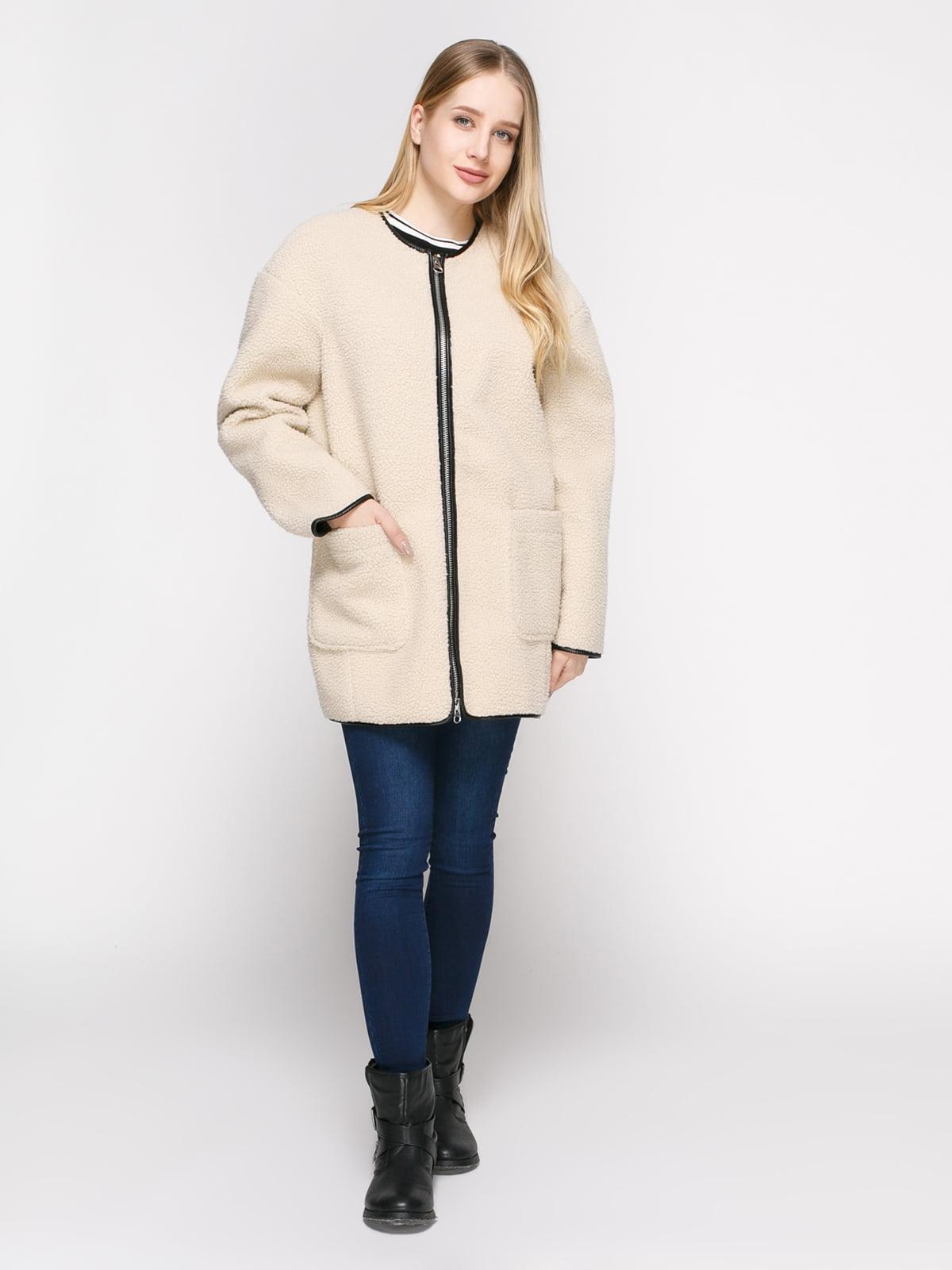 Пальто светло-бежевое | 4808022 | фото 2