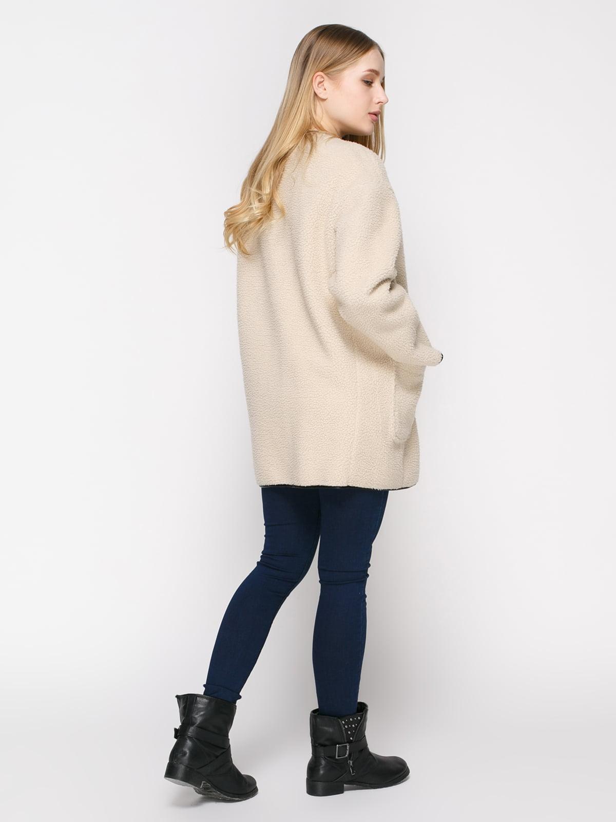 Пальто светло-бежевое | 4808022 | фото 3