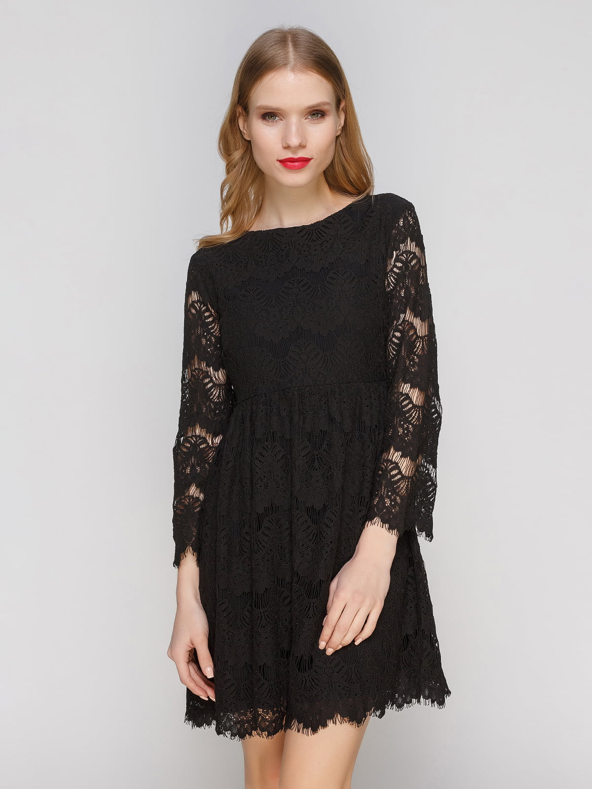 Сукня чорна ажурна | 2877954