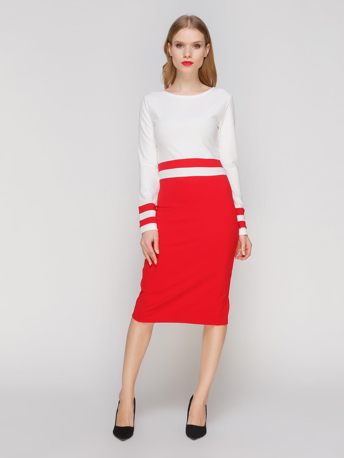 Сукня біло-червона | 2121392