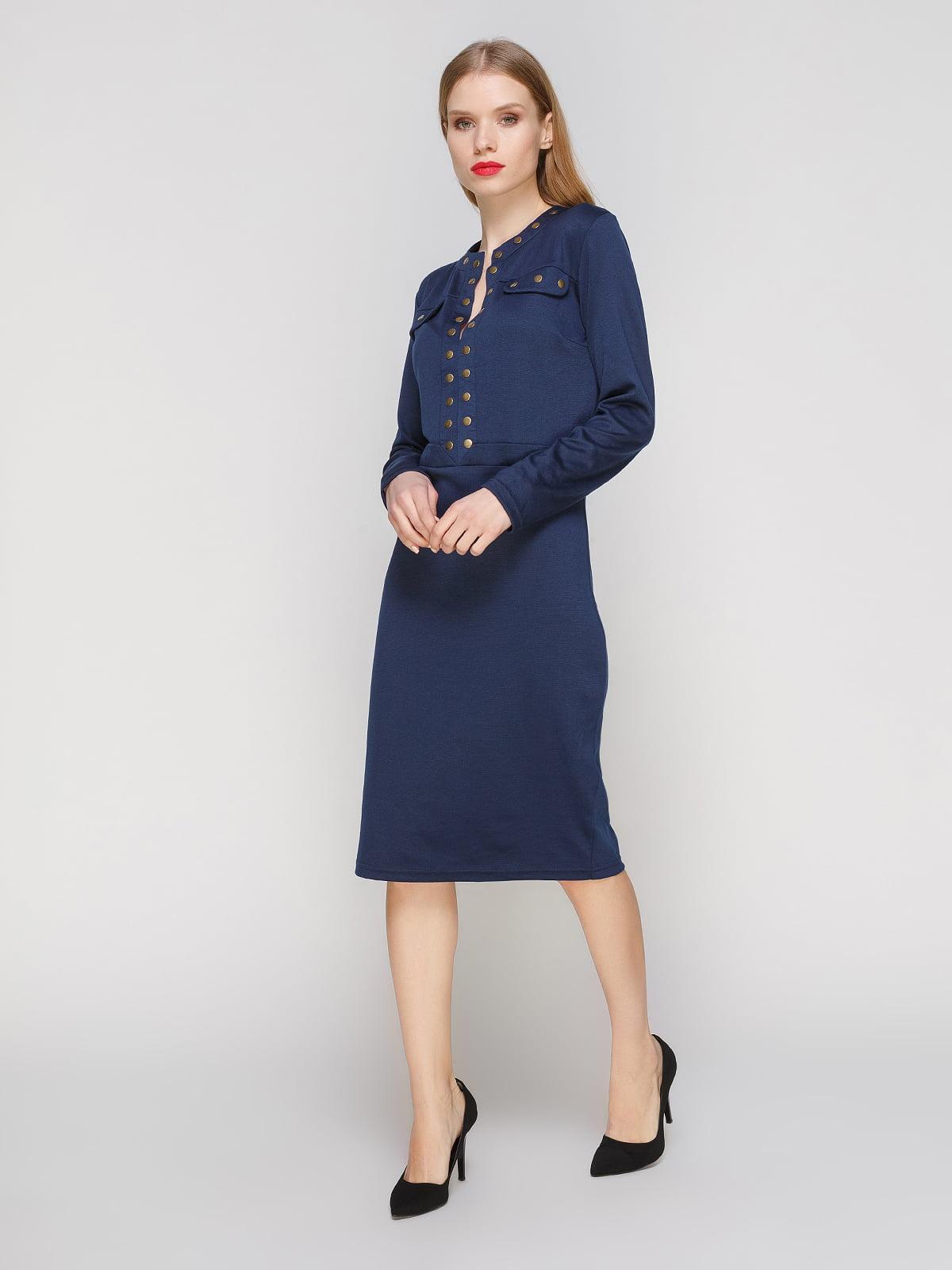 Сукня темно-синя | 3609030