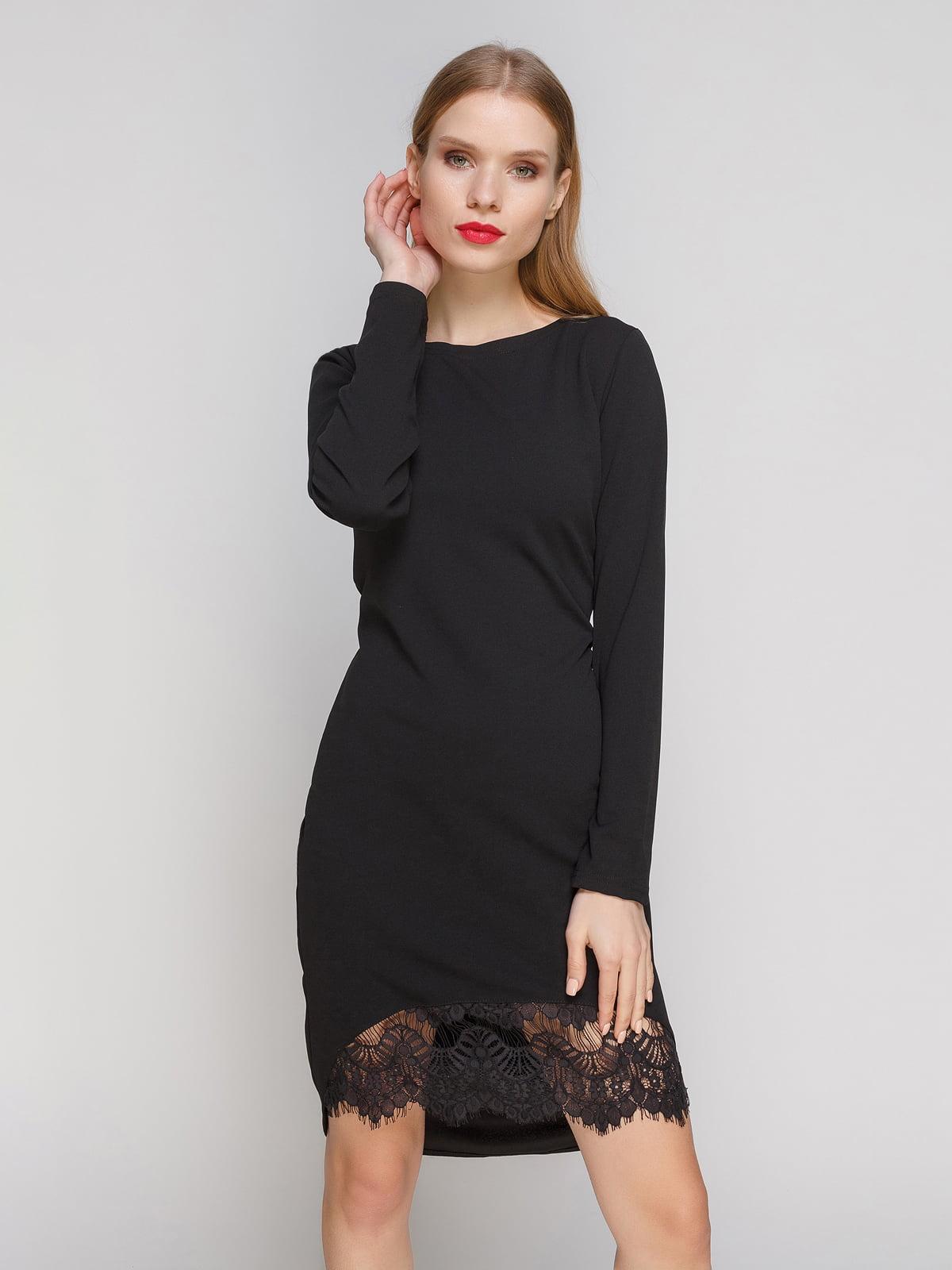 Сукня чорна з мереживом | 2959610