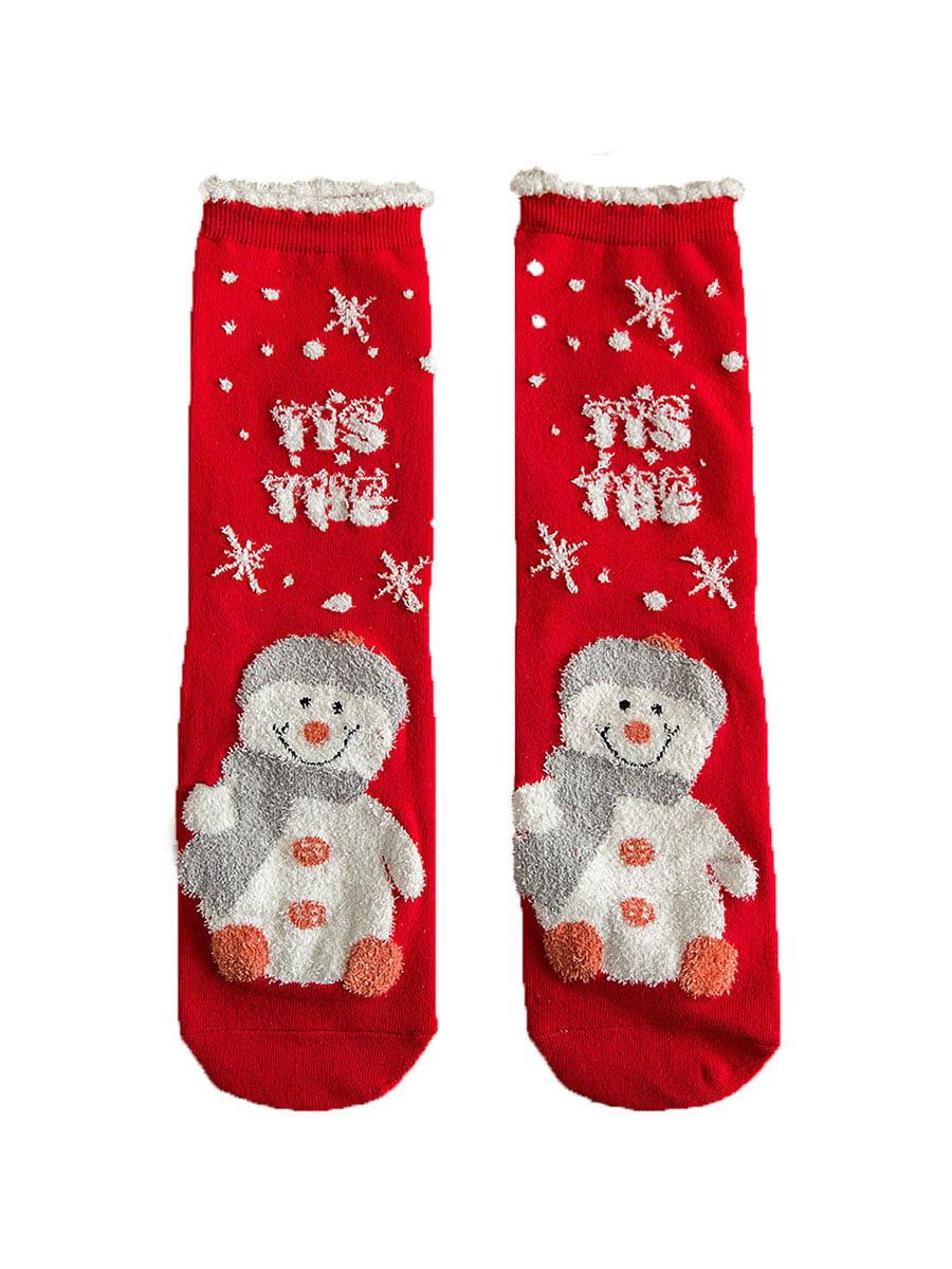 Носки красные с рисунком подростковые | 4820832