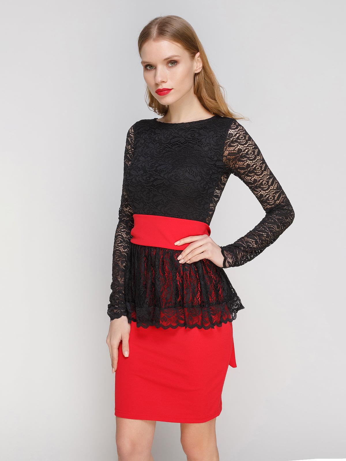 Сукня червоно-чорна | 2003583