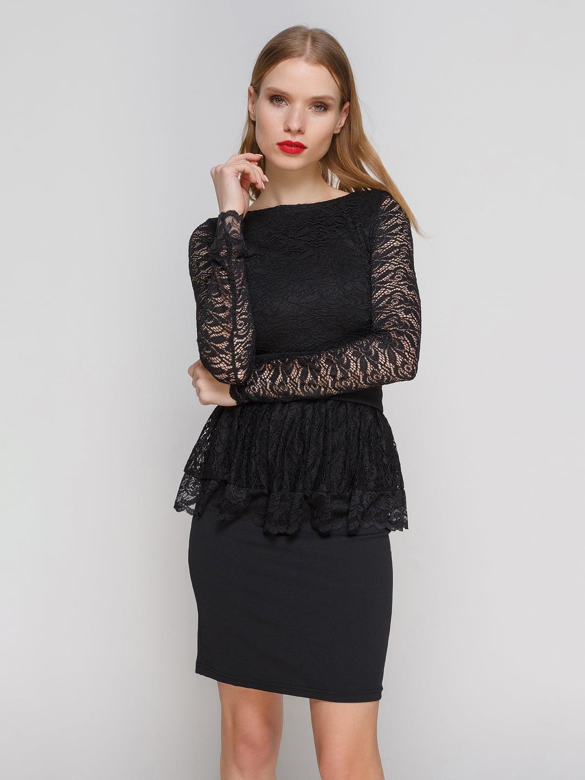 Сукня чорна з баскою   2003584