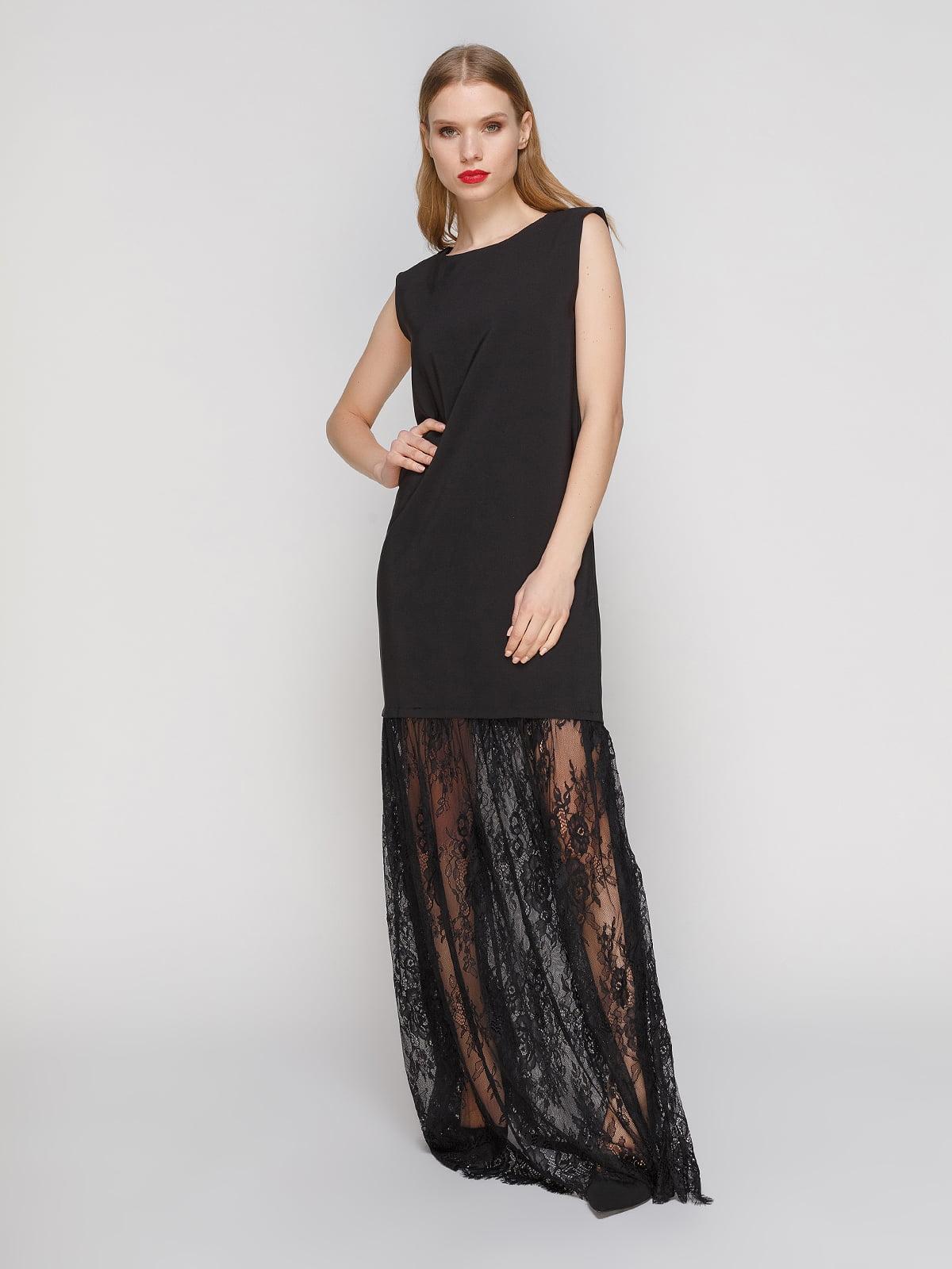 Сукня чорна з мереживом | 3361608
