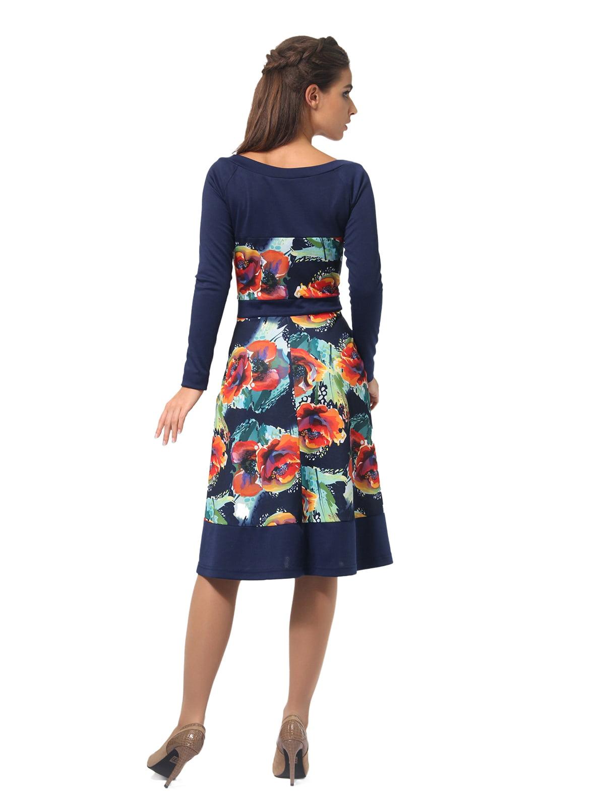 Платье синее с цветочным принтом   4794782   фото 2