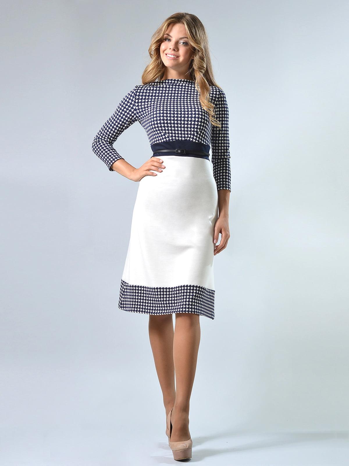 Платье в гусиную лапку | 4825269