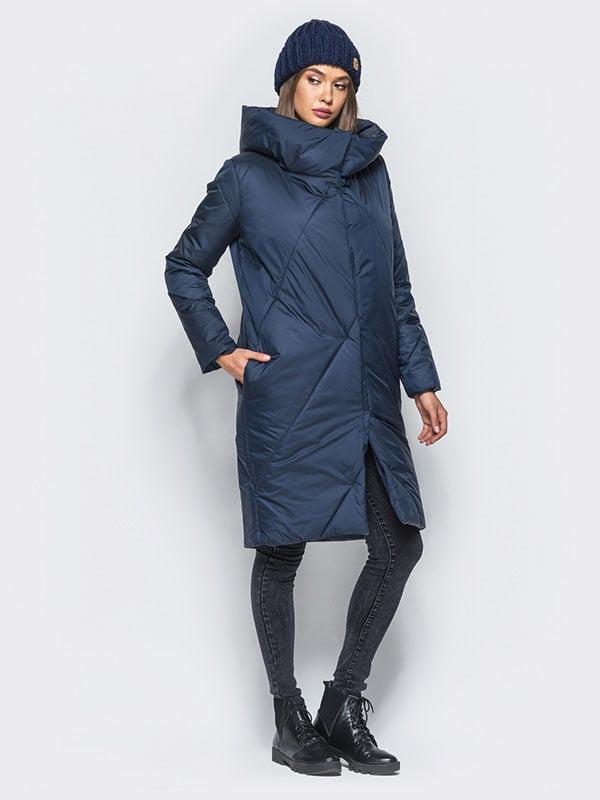 Пальто синее | 4680272 | фото 2