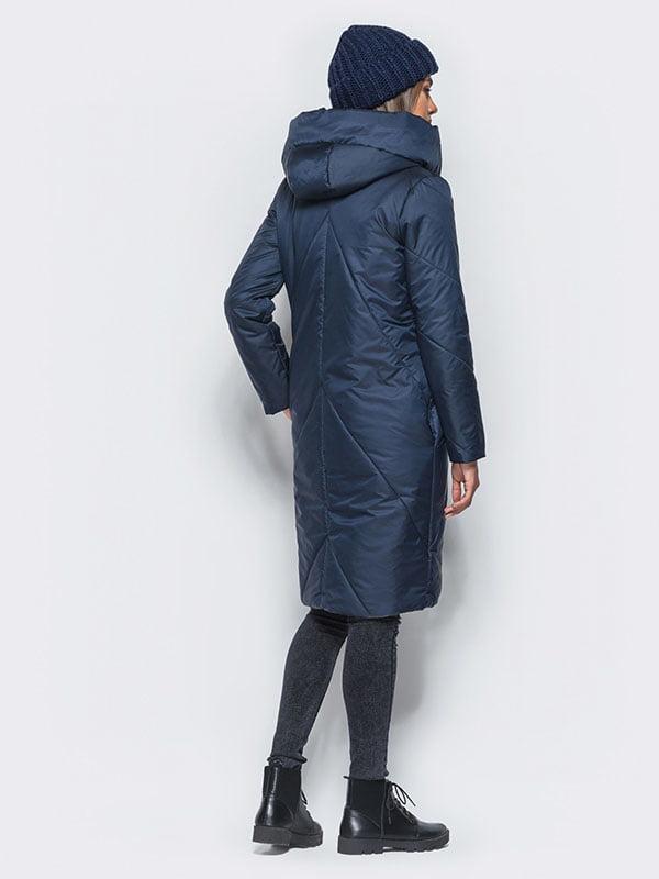 Пальто синее | 4680272 | фото 3