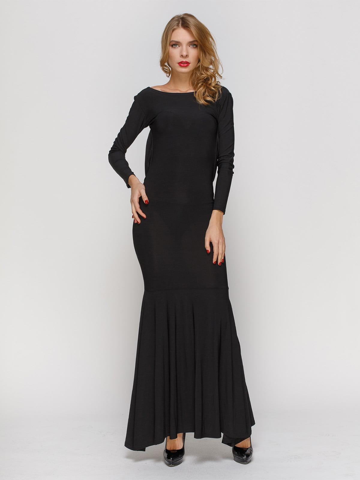 Сукня чорна з відкритою спиною | 2003623