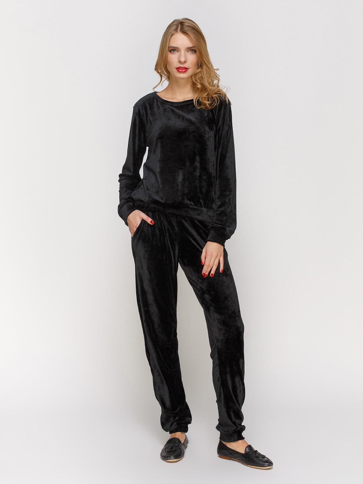 Костюм з оксамиту: джемпер і штани | 3182342