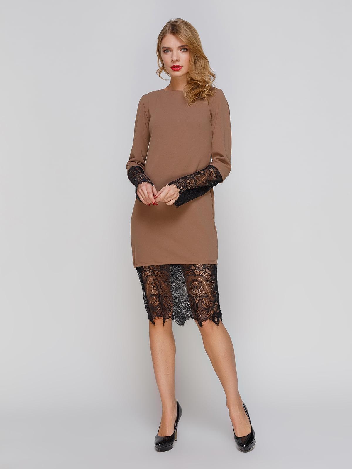 Сукня кавового кольору | 3045912