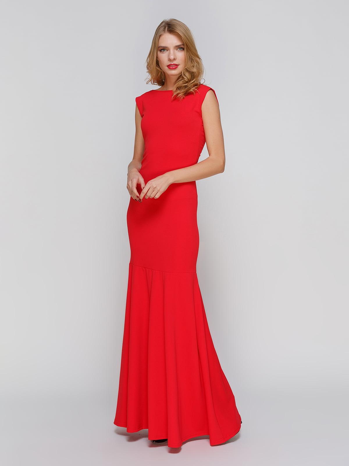 Сукня червона з декором | 2003615