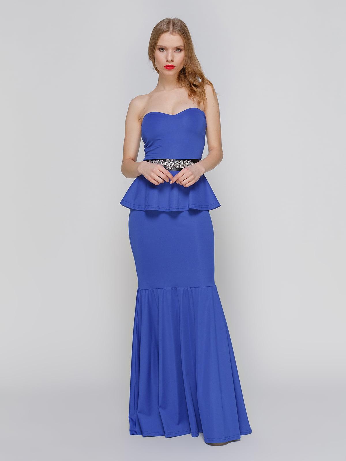 Сукня-бюстьє синя | 2003625