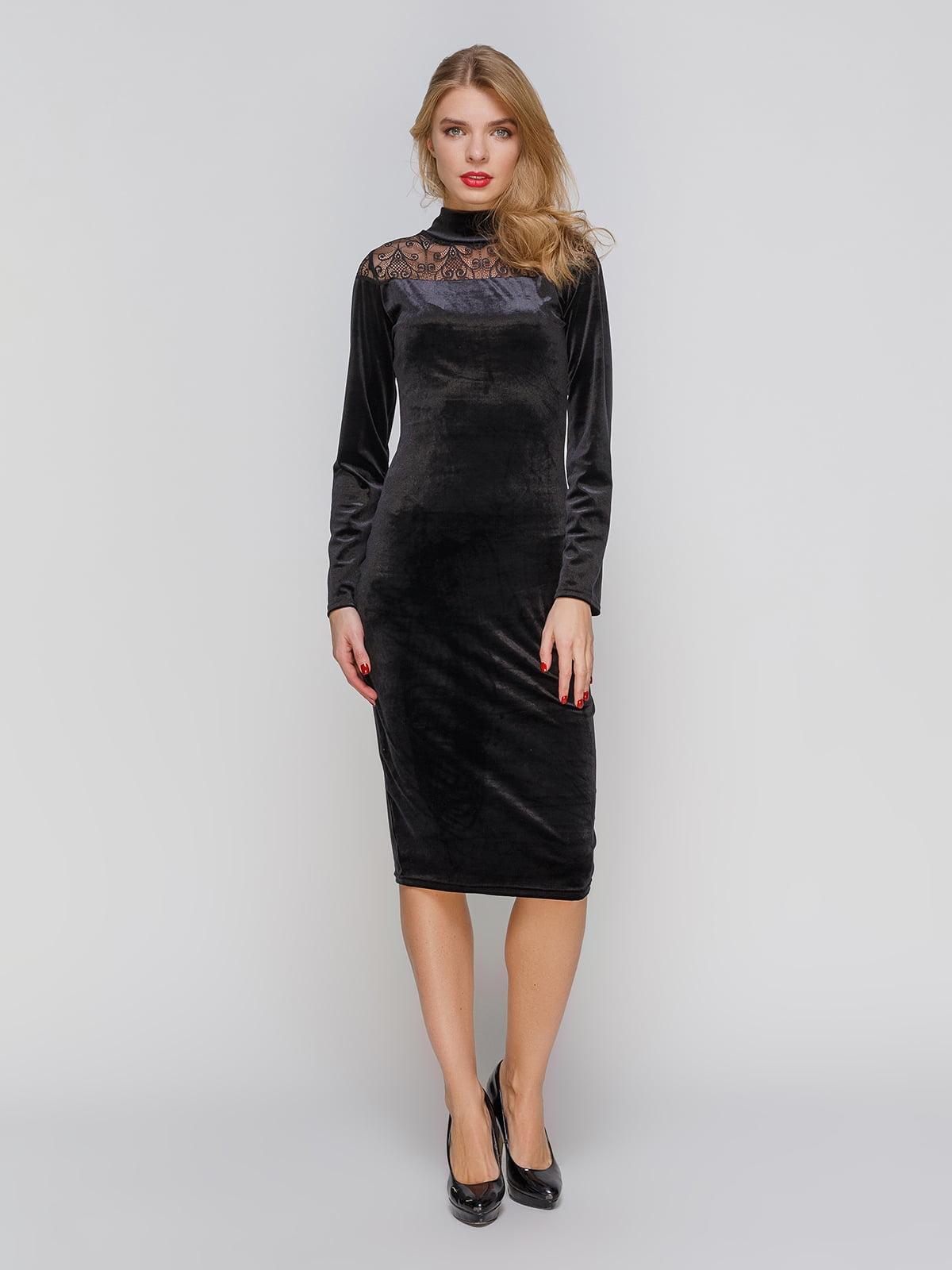 Сукня чорна з мереживом   2877971