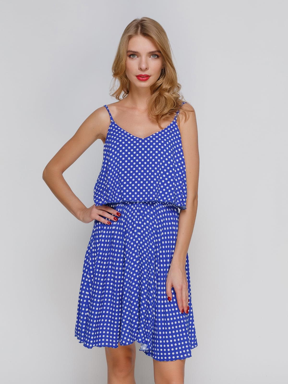 Сукня синя в горох | 2293467