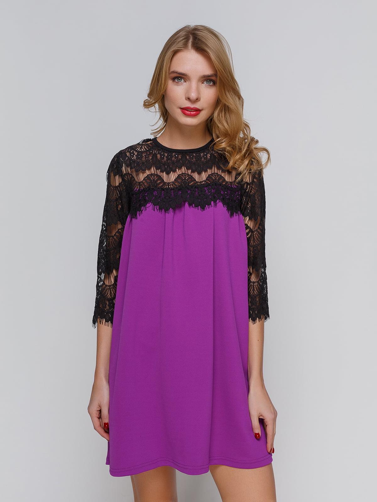 Сукня бузково-чорна | 3182317