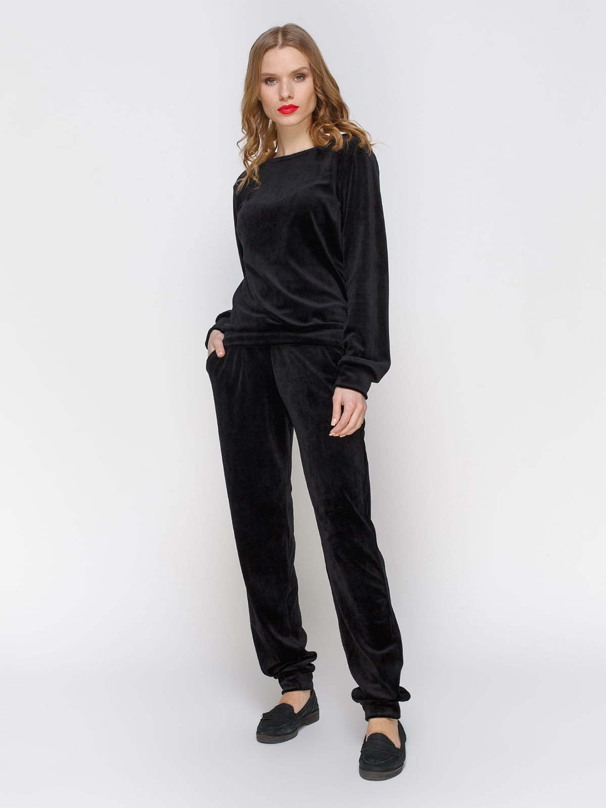 Костюм оксамитовий: джемпер і штани | 2959615