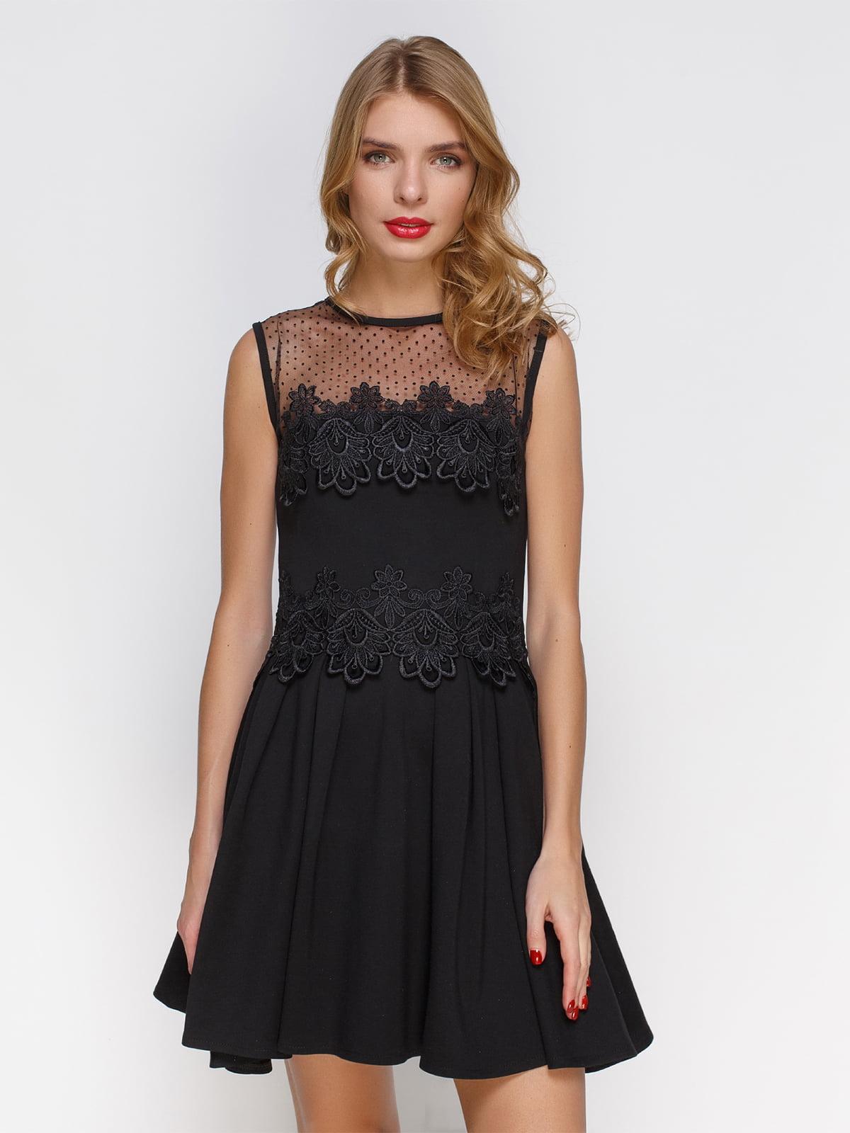 Сукня в складку з французьким мереживом   3778198