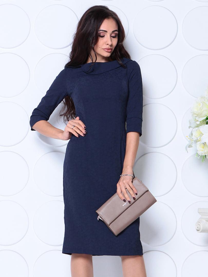Платье темно-синее | 4794825 | фото 5