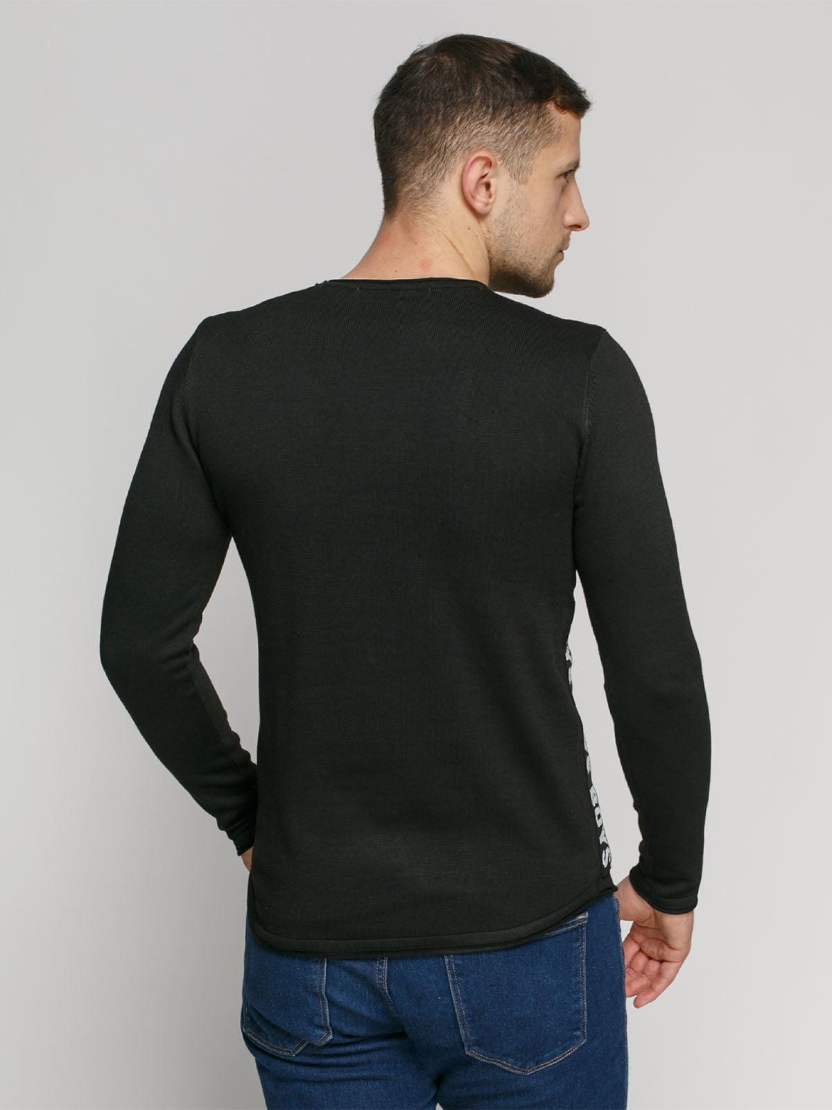 Джемпер черный с принтом | 4825961 | фото 2