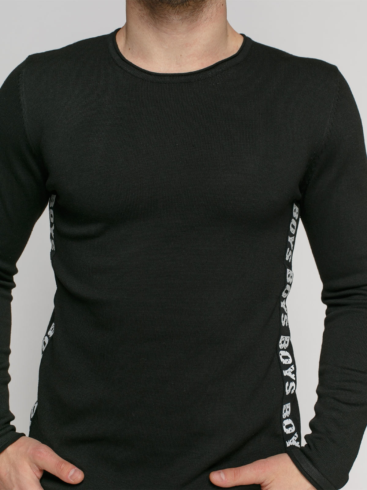 Джемпер черный с принтом | 4825961 | фото 3