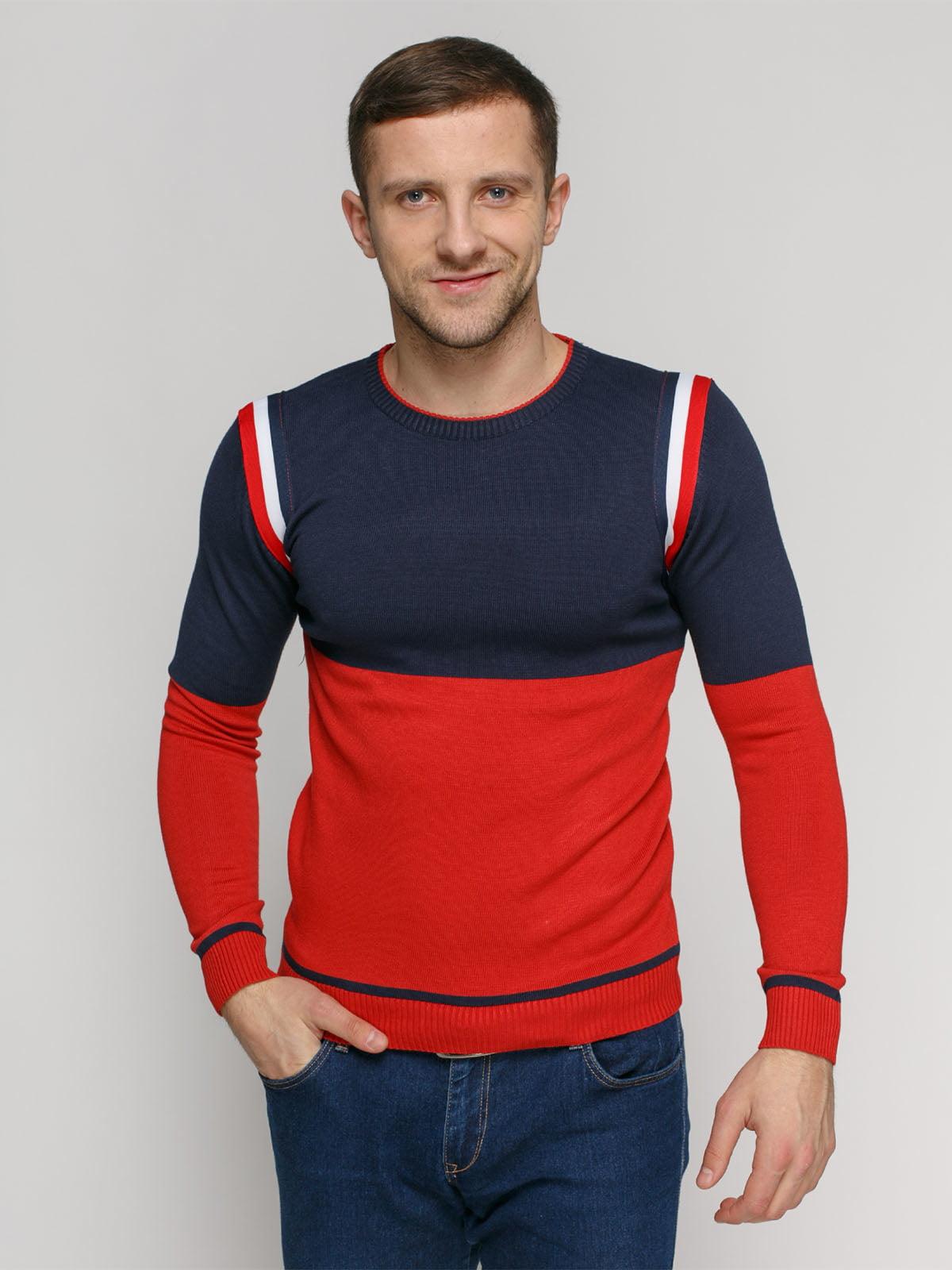 Джемпер сине-красный | 4825959