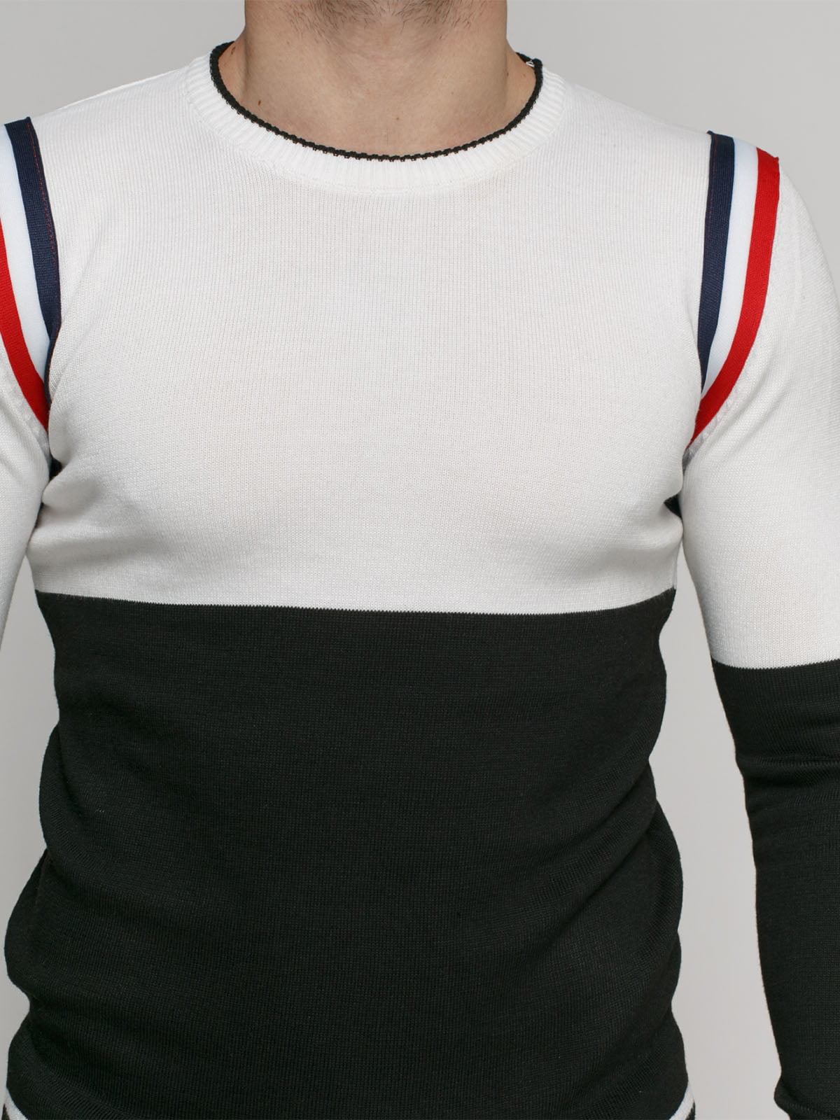 Джемпер черно-белый | 4825957 | фото 3