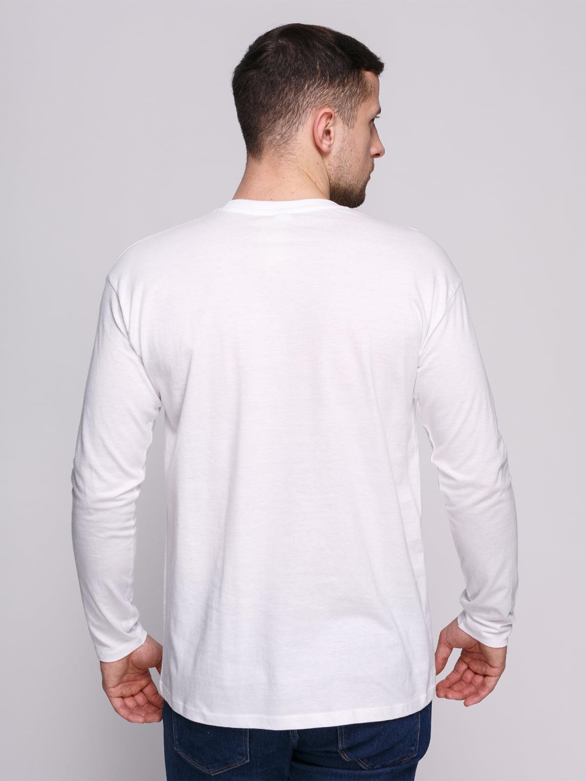 Лонгслів білий з принтом   4823725   фото 2