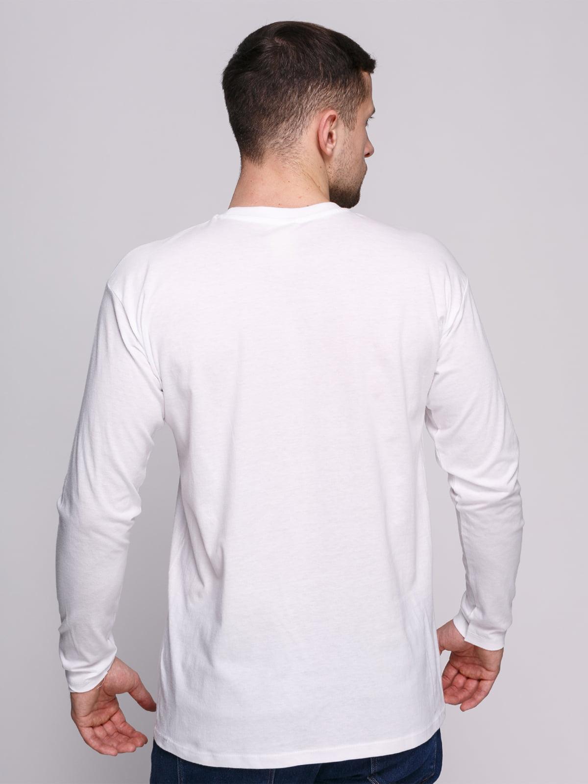 Лонгслів білий з принтом | 4823721 | фото 2